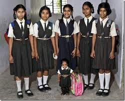 Jyoti with her school friends