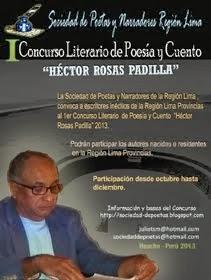 I CONCURSO LITERARIO DE POESÍA Y CUENTO HÉCTOR ROSAS PADILLA 2013