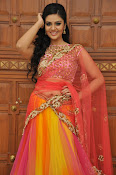 sri mukhi glam pix in half saree-thumbnail-4