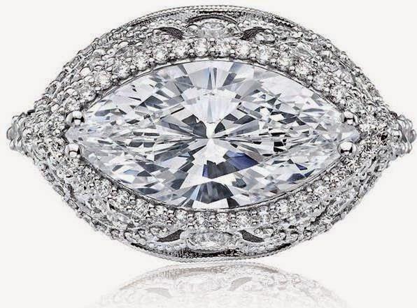 TACORI Platinum 1.38ct Diamond Sculpted Crescent Ring