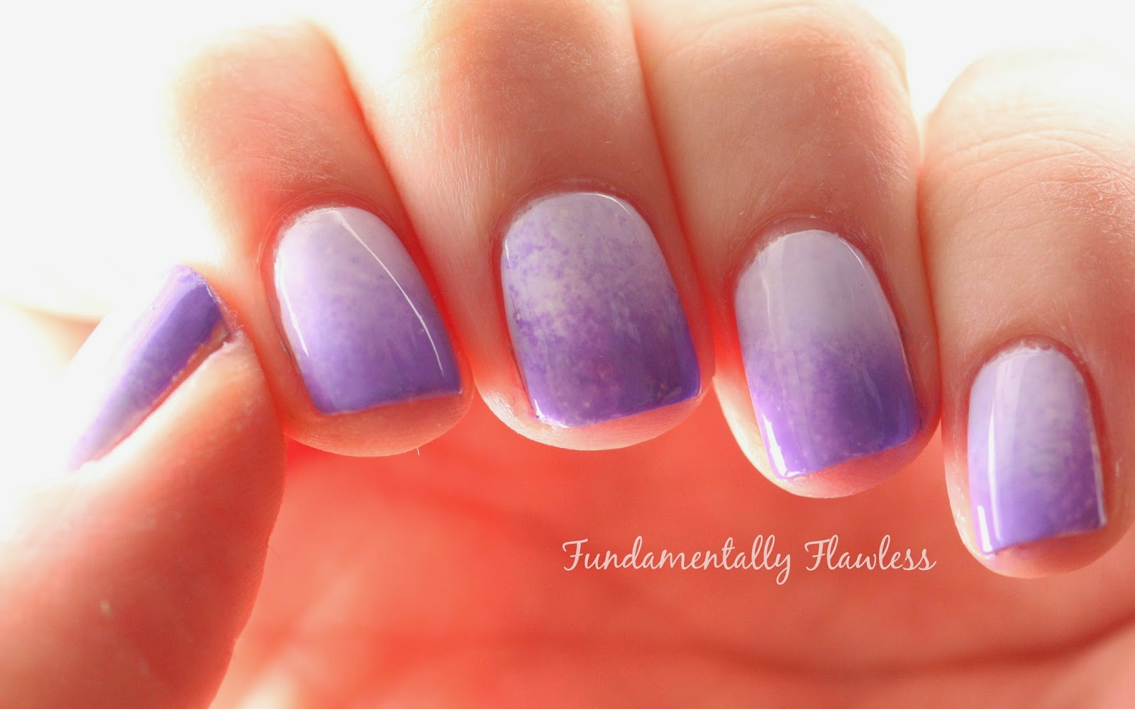 Models Own Lilac Sheen and Purple Glaze Gradient Nail Art