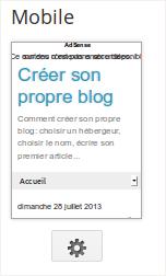 Ajouter ou supprimer des widgets dans Blogger Mobile