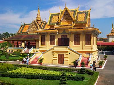 Jardins do Palácio Real de Phnom Penh - Camboja