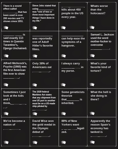 Wild image within cards against humanity printable