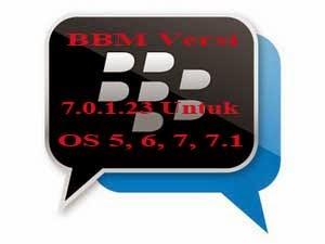 """BBM """"Blackberry Messenger"""" Versi 7.0.1.23 OS 5, 6, 7"""