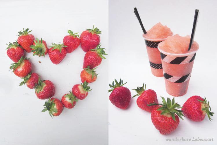 Erdbeer-Riesling-Slushy zu Hause gemacht, selbst