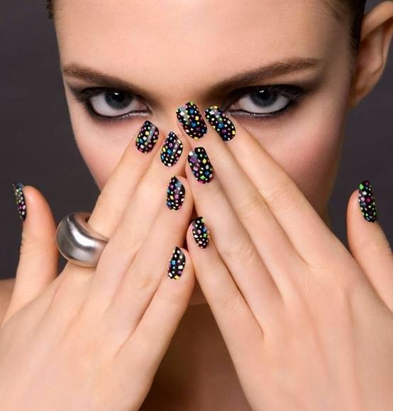 nail art and facemakeup