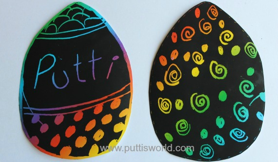 Easy Kids Craft - Easter Scratch Art
