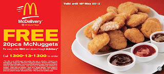 mcd - FREEBIES - [ENDED] FREE 20pcs Chicken McNuggets