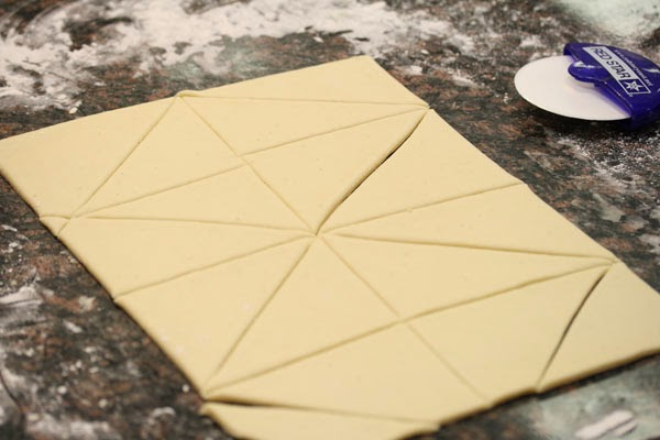 Triangle Sliced Dough
