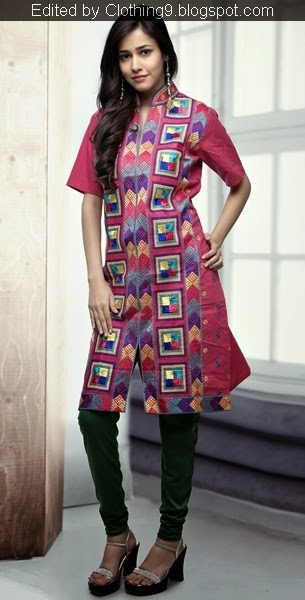 Phulkari Punjabi Kurtis and Churidar Designs