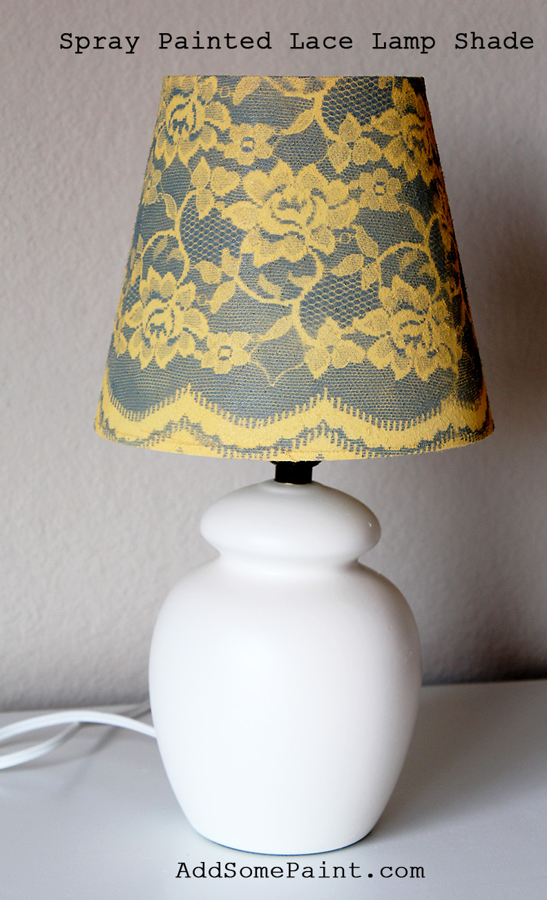 can be made by wrapping the lamp shade with lace securing it spray. Black Bedroom Furniture Sets. Home Design Ideas
