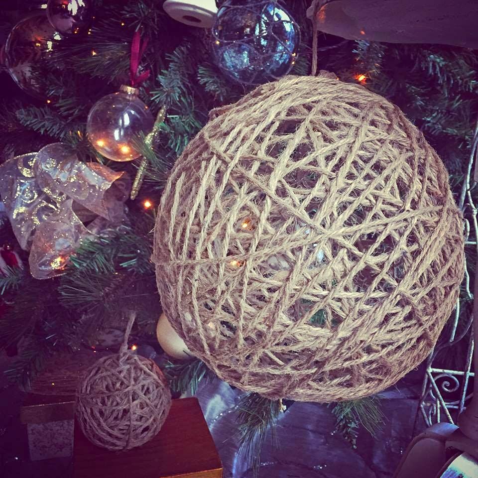 muchocrafts twine spheres diy - Christmas Light Spheres