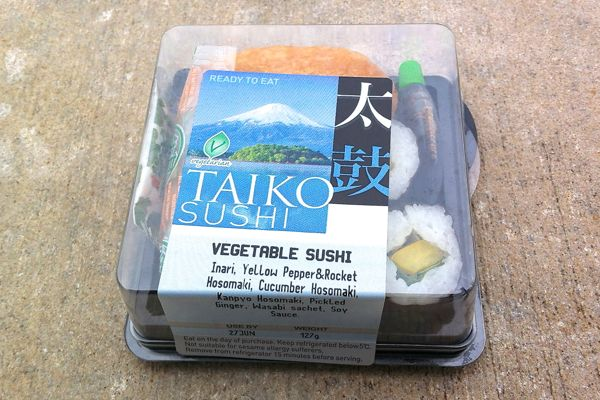 Vegan Review: Taiko Vegetable Sushi at Waitrose