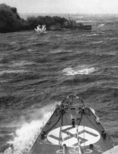 25 HMS Obdurate-Ártico convoyes Segunda Guerra Mundial-Edición Limitada Arte