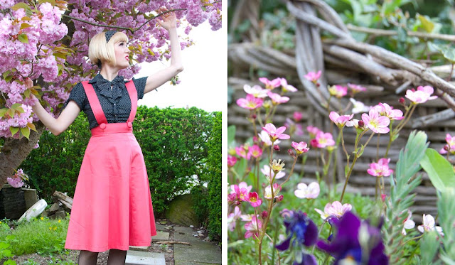 outfit, spring, pink, flowers