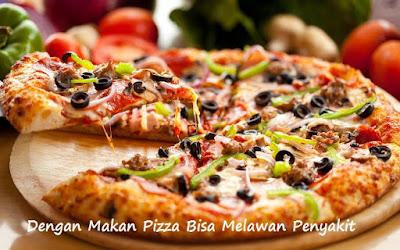 Dengan Makan Pizza Bisa Melawan Penyakit Yang Datang