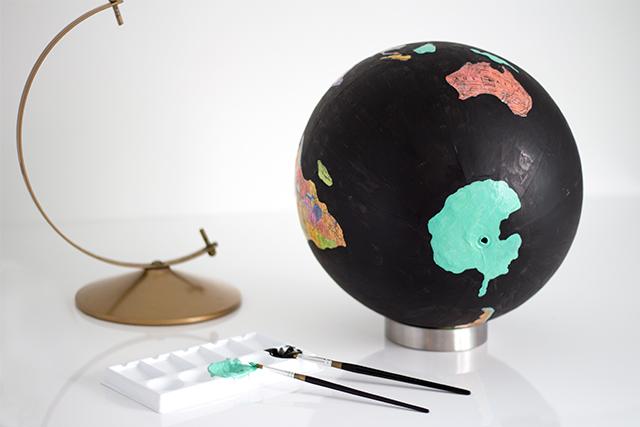 DIY Anthropologie inspired wanderlust globe.