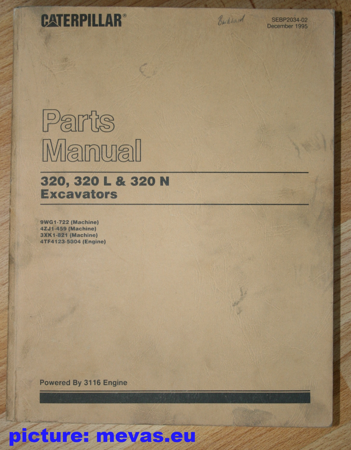 cat 320 320 l and 320 n parts manual sebp2034 02 parts catalogues