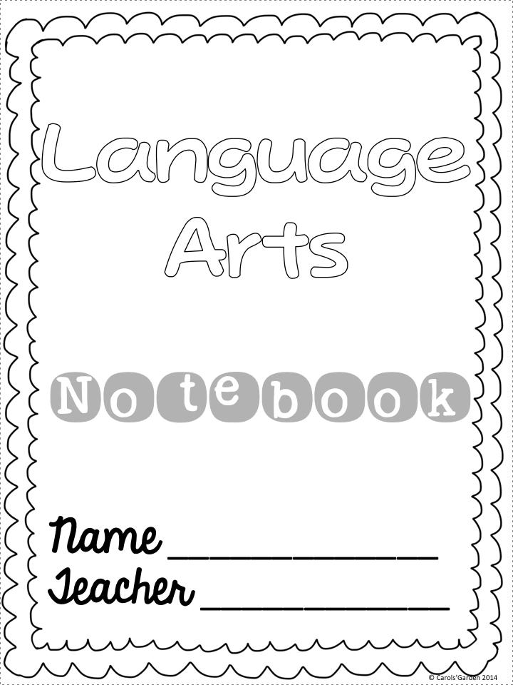 Printable Handwriting Book Cover ~ Carol s teaching garden new social studies curriculum