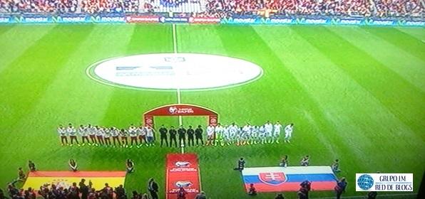 Selección de España y de Macedonia