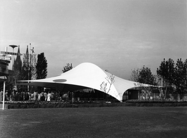 Entrance Arch at the Federal Garden Exhibition, Frei Otto, Cologne/Germany 1957