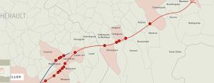 Carte des sites archéologiques de la ville de Nîmes - Inrap