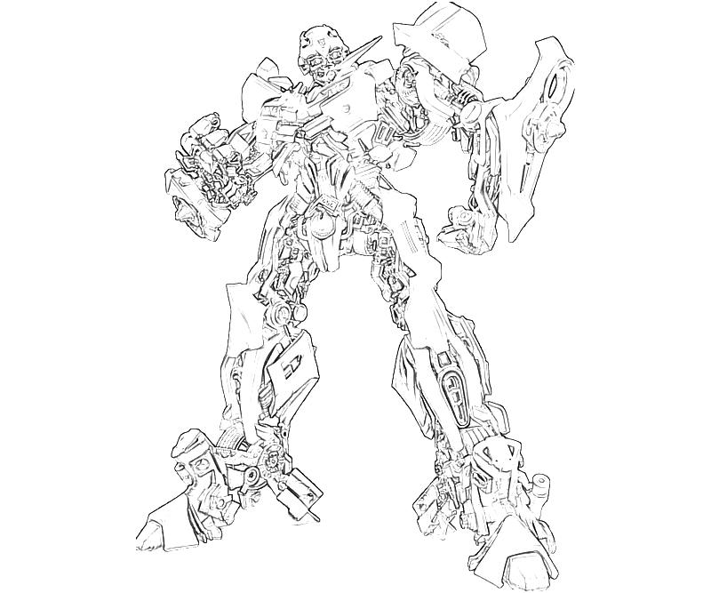 Printable Transformers Fall Of Cybertron Bumblebee Action Coloring Pages