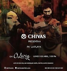 Jazz en O.Livia - Lunes 3 de Abril 8:00PM - presenta