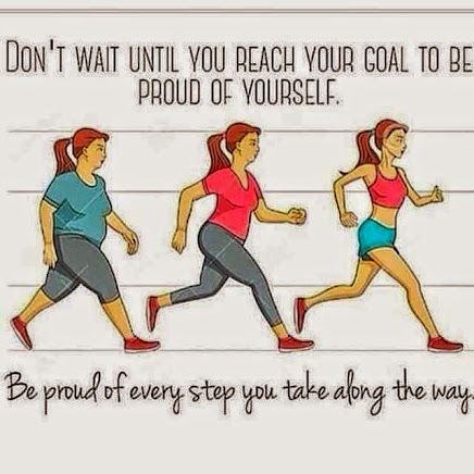 Be Proud of yourself all along your journey!!!!