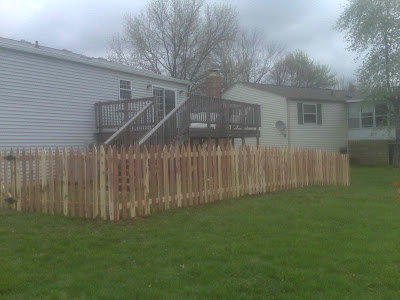 K Amp M Fence 4 Tall Eastern Red Cedar Spaced Picket Fence