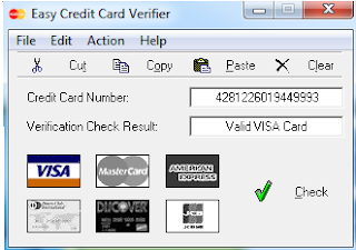 Credit number valid card checker