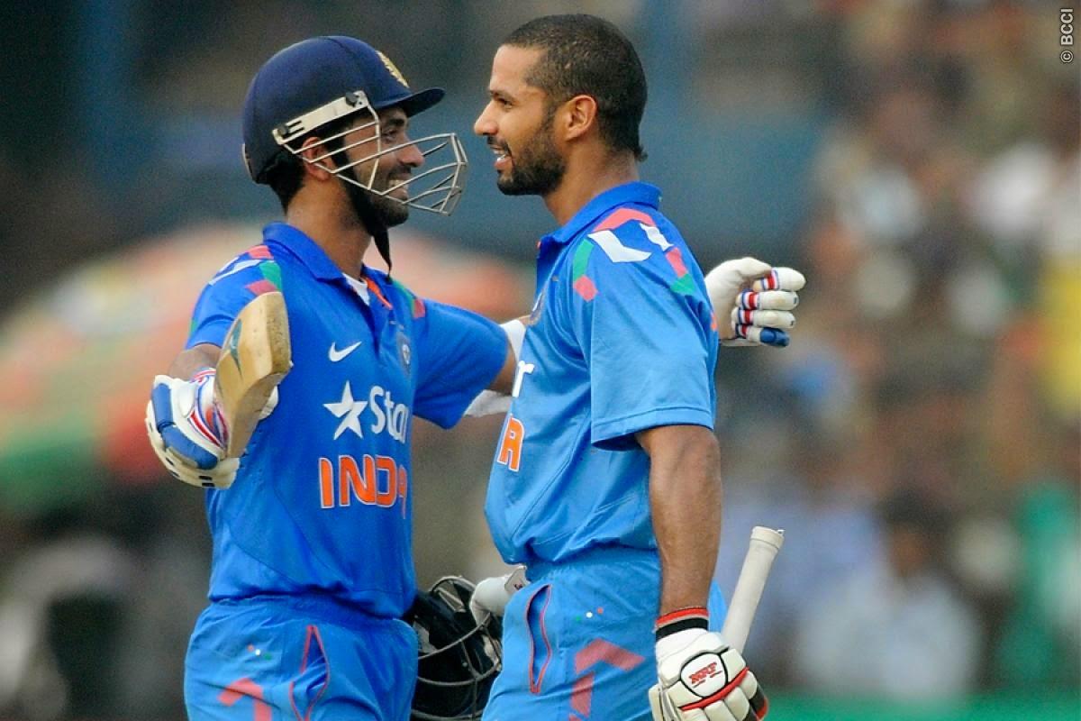 Ajinkya-Rahane-Shikhar-Dhawan-231-run-opening-stand-India-vs-Sri-Lanka-ODI-Series-2014
