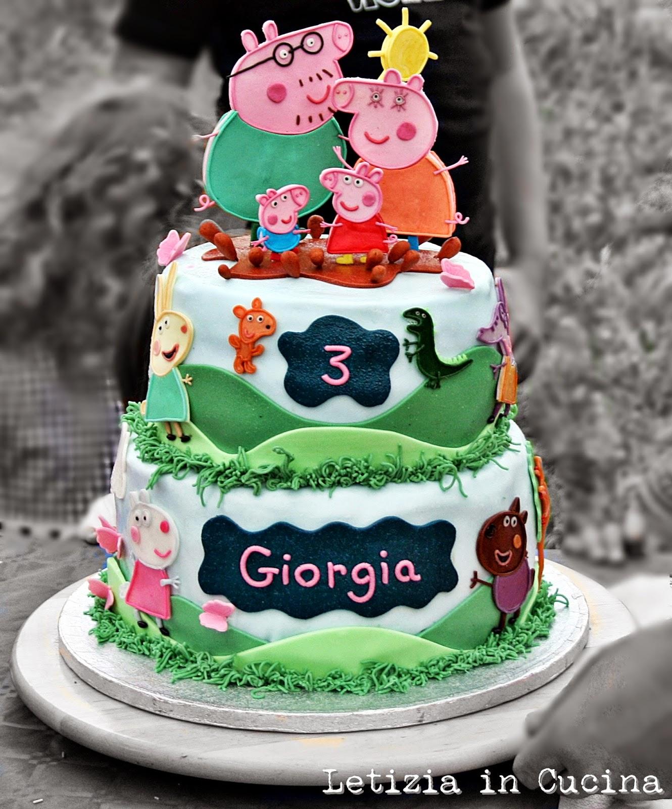 Letizia in Cucina: Torta Peppa Pig - 3° Compleanno Giorgia