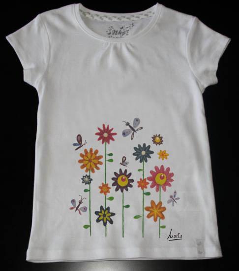 Marta pinta y crea camisetas pintadas - Plantillas para pintar camisetas a mano ...