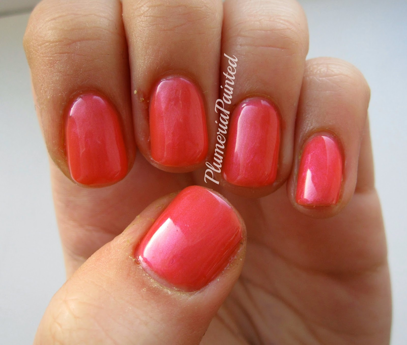 PlumeriaPainted: Pink Nails: Body Collection - Orange Pink (no name)