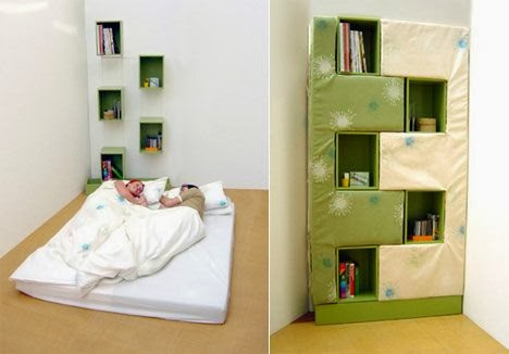 shelves, closet, bed designs for small bedrooms