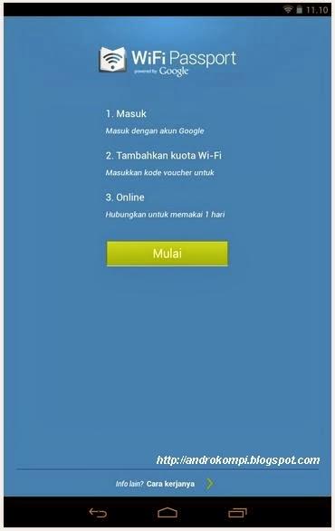 Masuk Aplikasi WiFi Passport