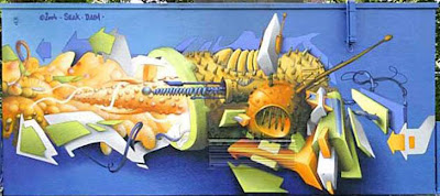 Graffiti and mural 3D