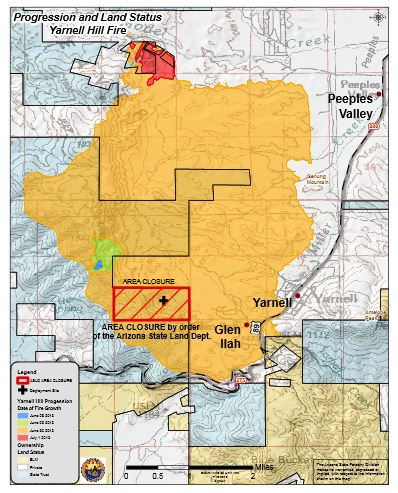 Yarnell Arizona Map.Arizona Geology Assessing Yarnell Post Fire Flood And Debris Flow