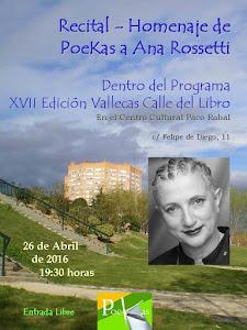PoeKas dedica a Ana Rossetti