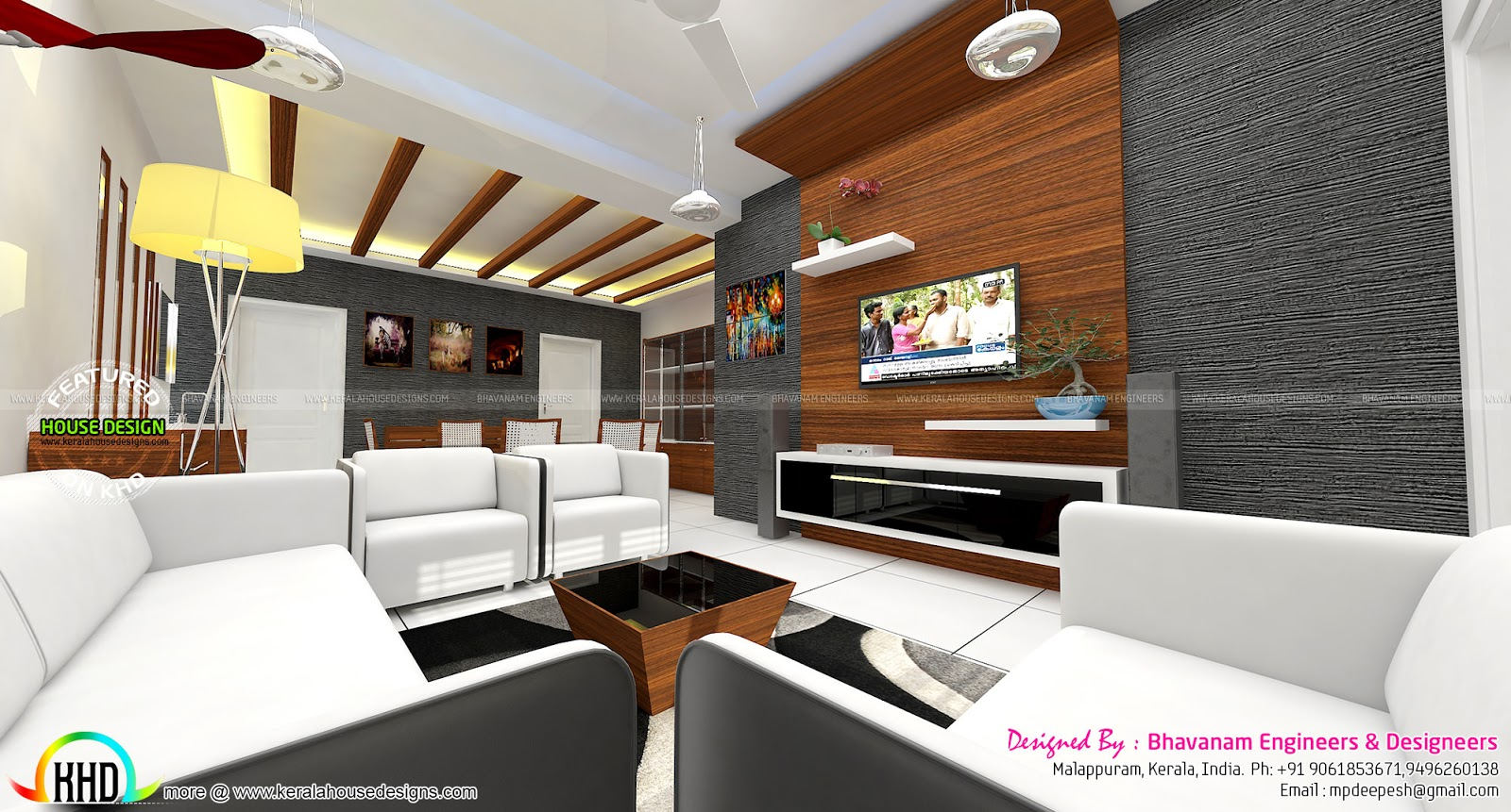 Living room interior decors ideas  Kerala home design an ~ 034725_Living Room Ideas Kerala