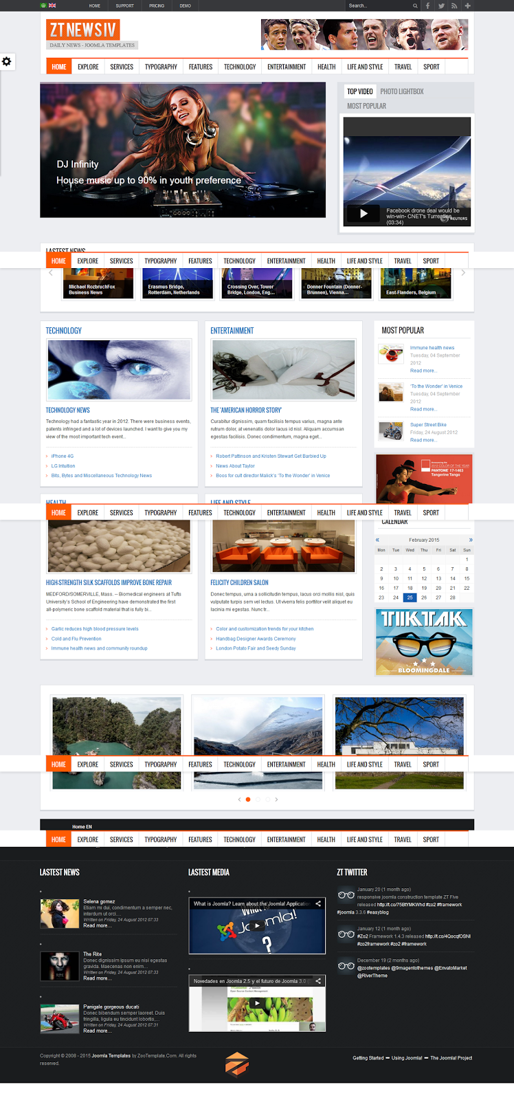 Share template ZT News IV - Joomla 2.5