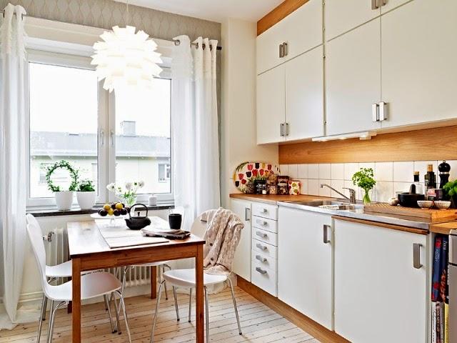 Decotips trucos para ganar calidez en la cocina decoraci n - Cocinas decoradas en blanco ...