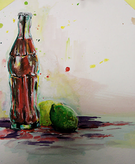 Artistic coke bottle