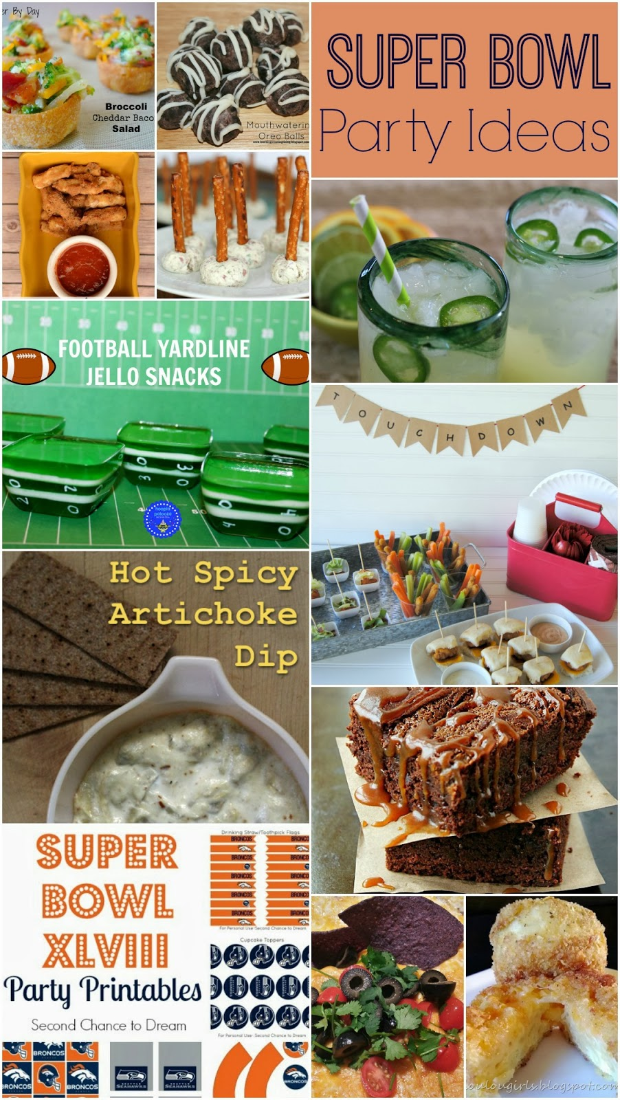 52 Mantels Super Bowl Recipes Ideas