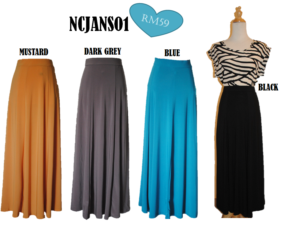 NCJAN01 - Flare Maxi Skirt | Nanano Collection