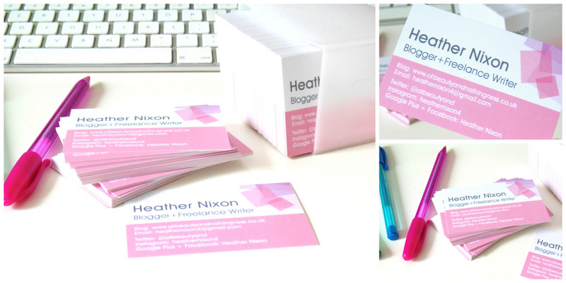 StressFreePrint Blogger Business Cards