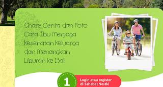 Info Kuis - Kuis Cerita Sehat Keluarga Berhadiah Liburn ke Bali
