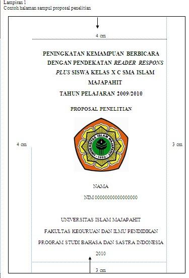 Contoh Halaman Sampul Proposal Bangga Berbahasa Indonesia